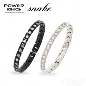 Power Ionics Womens 7mm 100% Pure Titanium With NdFeB Neodymium Magnetic Therapy Snake Bracelet