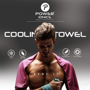Power ionics Cooling Ice Cold Towel For Sports Gym Drying Sweat Absorb Dry Jogging Yoga