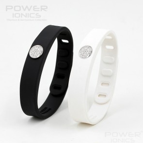 Power Ionics IDEA BAND LOVER Crystal 3000ions/cc 4IN1 Tourmaline Titanium Germanium F.I.R  Sports Bracelet Wristband