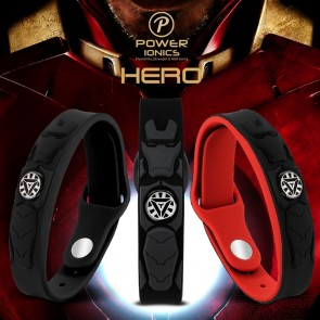 Power Ionics NEW HERO IRONMAN 3000ions/cc 4IN1 Tourmaline Titanium Germanium F.I.R Sports Bracelet Wristband