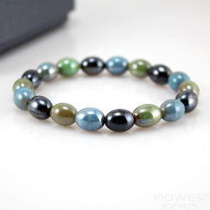 Power Ionics Tourmaline Beads Stretch Classic Bracelet