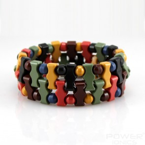 Power Ionics Tourmaline Double Special Beads Stretch Bracelet