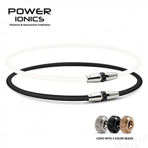 Power Ionics Full Throttle 3000 ions/cc Fashion Sports Titanium Necklace
