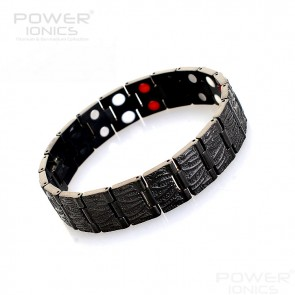 Power Ionics Context Mens 4in1 Multifunction Germanium Magnetic F.I.R Ions Wide Bracelet